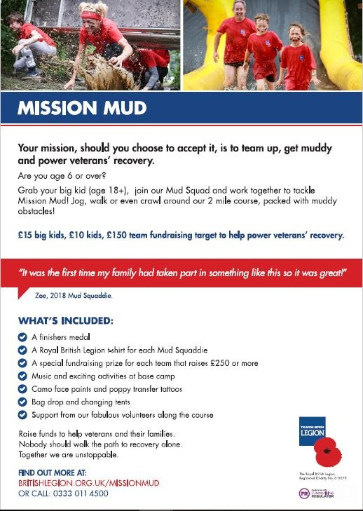 Britishlegion.org.uk/missionmud OR CALL: 0333 011 4500